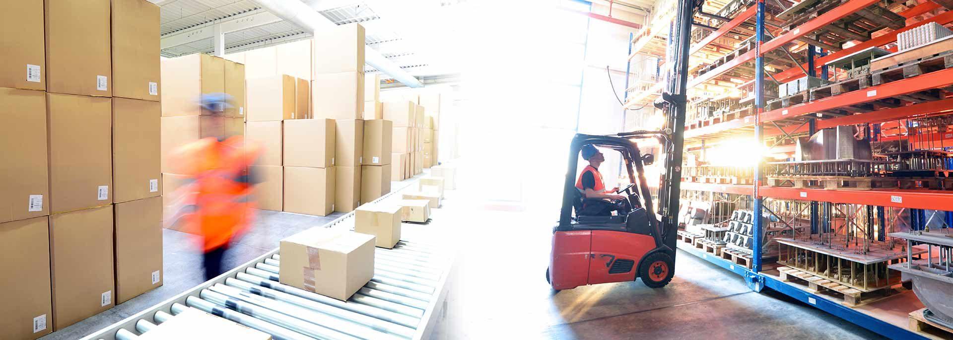 Logistik Arbeiter im Lager