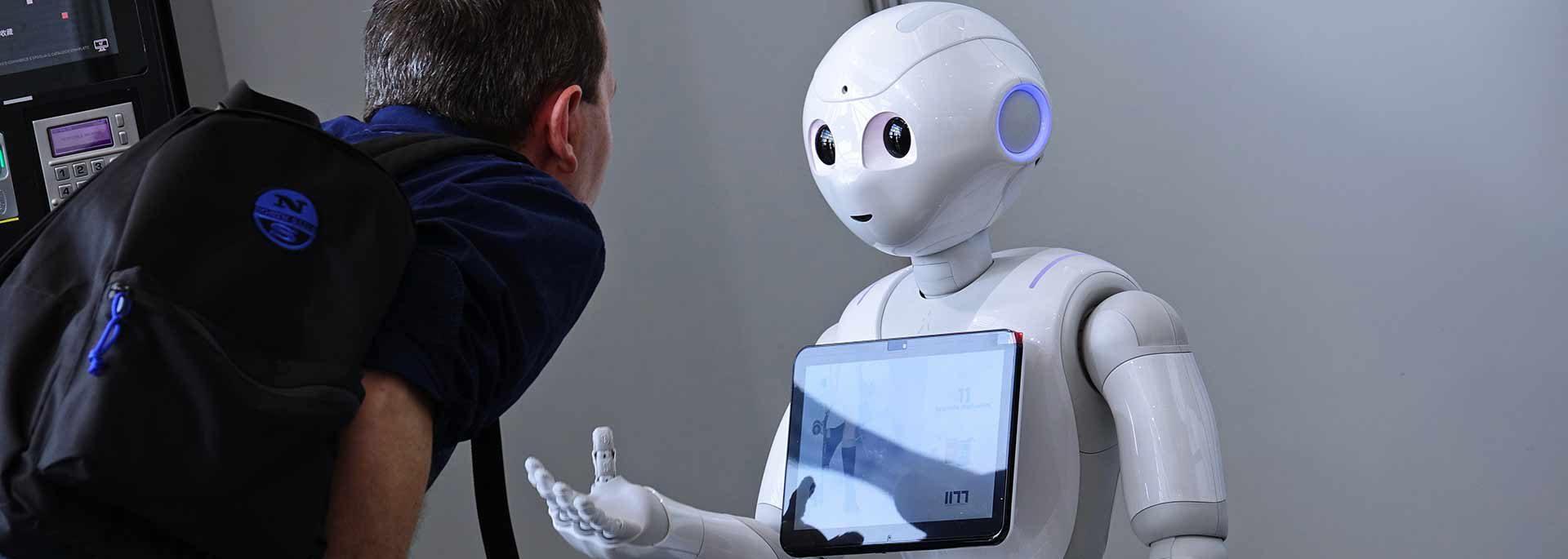 Roboter mit Kind