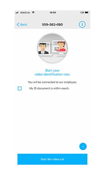 Phone Screen iOS - Start Videocall